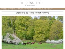 www.horsesforlife.se
